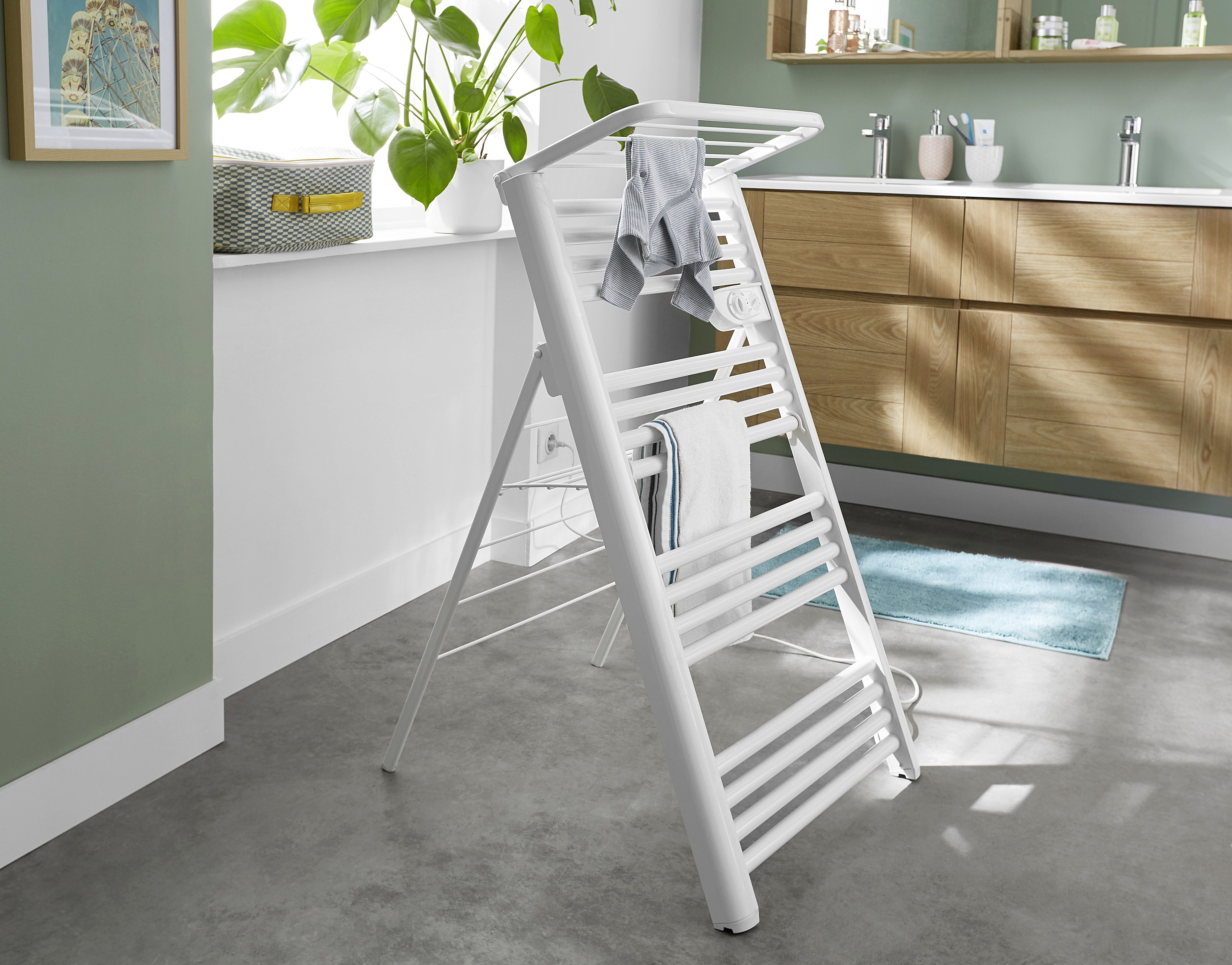 Suszarka Elektryczna Blyss 500 W White Towels Towel Warmer Scandinavian Kitchen