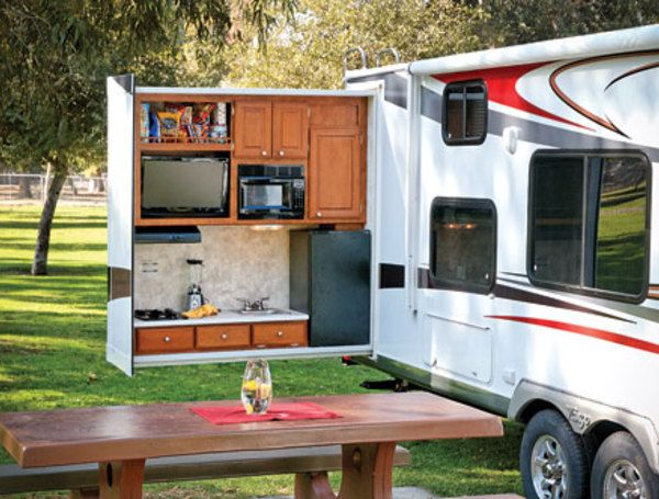 Camper Travel Trailer With Outdoor Kitchen  Camping Kitchen New Travel Trailer With Outdoor Kitchen 2018