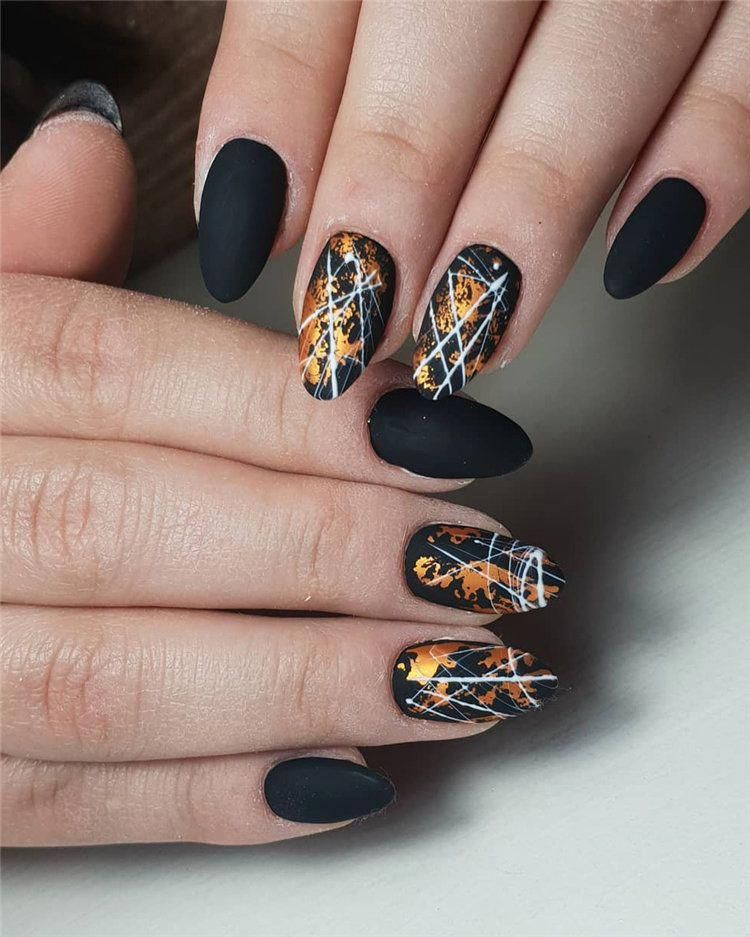 100+ Elegant Black Nails Design Ideas Exceptional Look 2019
