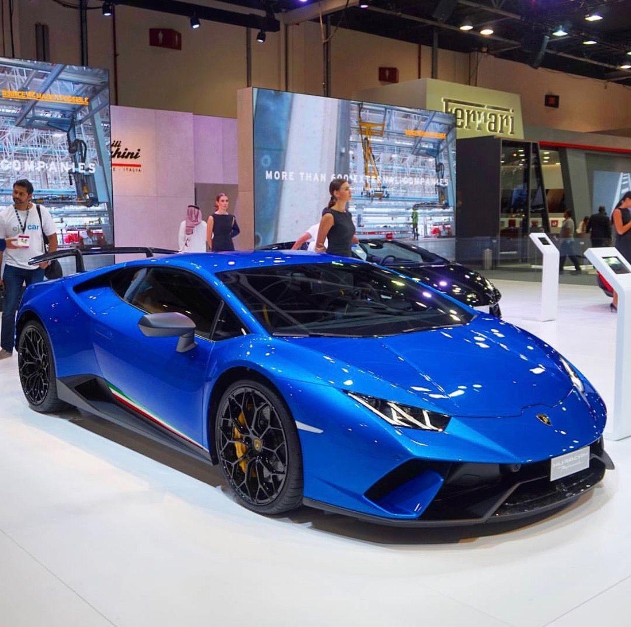 Lamborghini Huracan Performante Painted In Blu Nethuns W