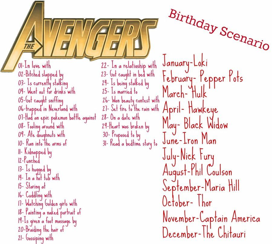 Ran into the arms of Black Widow! - Avengers birthday