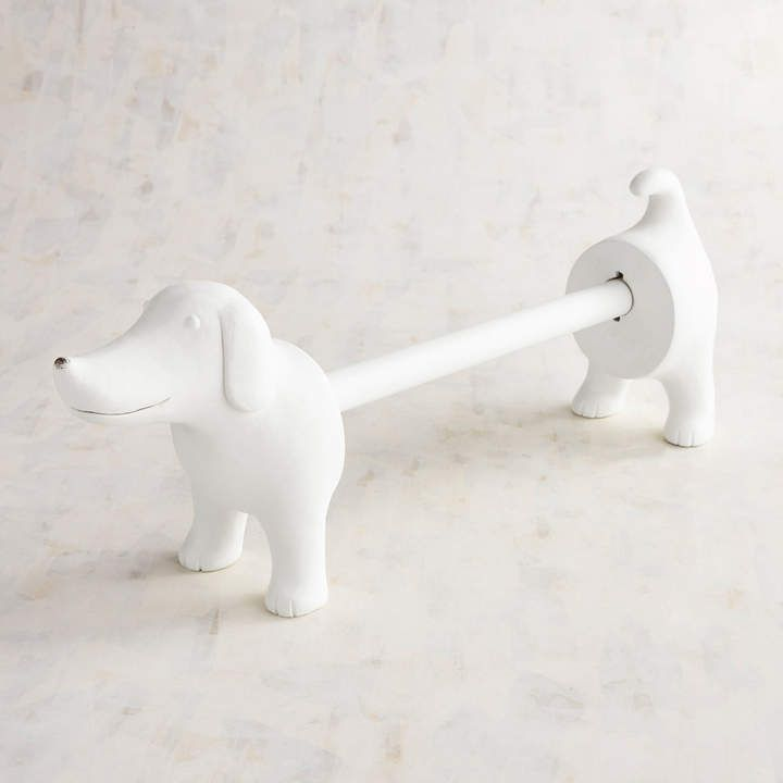 Dachshund Paper Towel Holder Pleasing Pier 1 Imports Jack The Dog Paper Towel Holder #ad #dachshund #throw Decorating Design