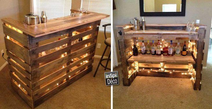 Mini Bar En Bois De Palettes Voici 20 Idees Creatives Bars