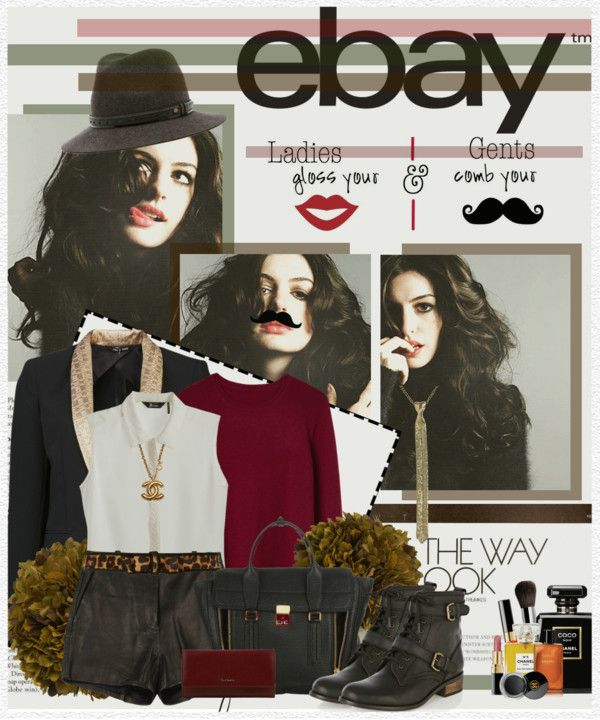 """""""Rock Menswear Like a Lady with eBay"""" by edenslove ❤ liked on Polyvore"""