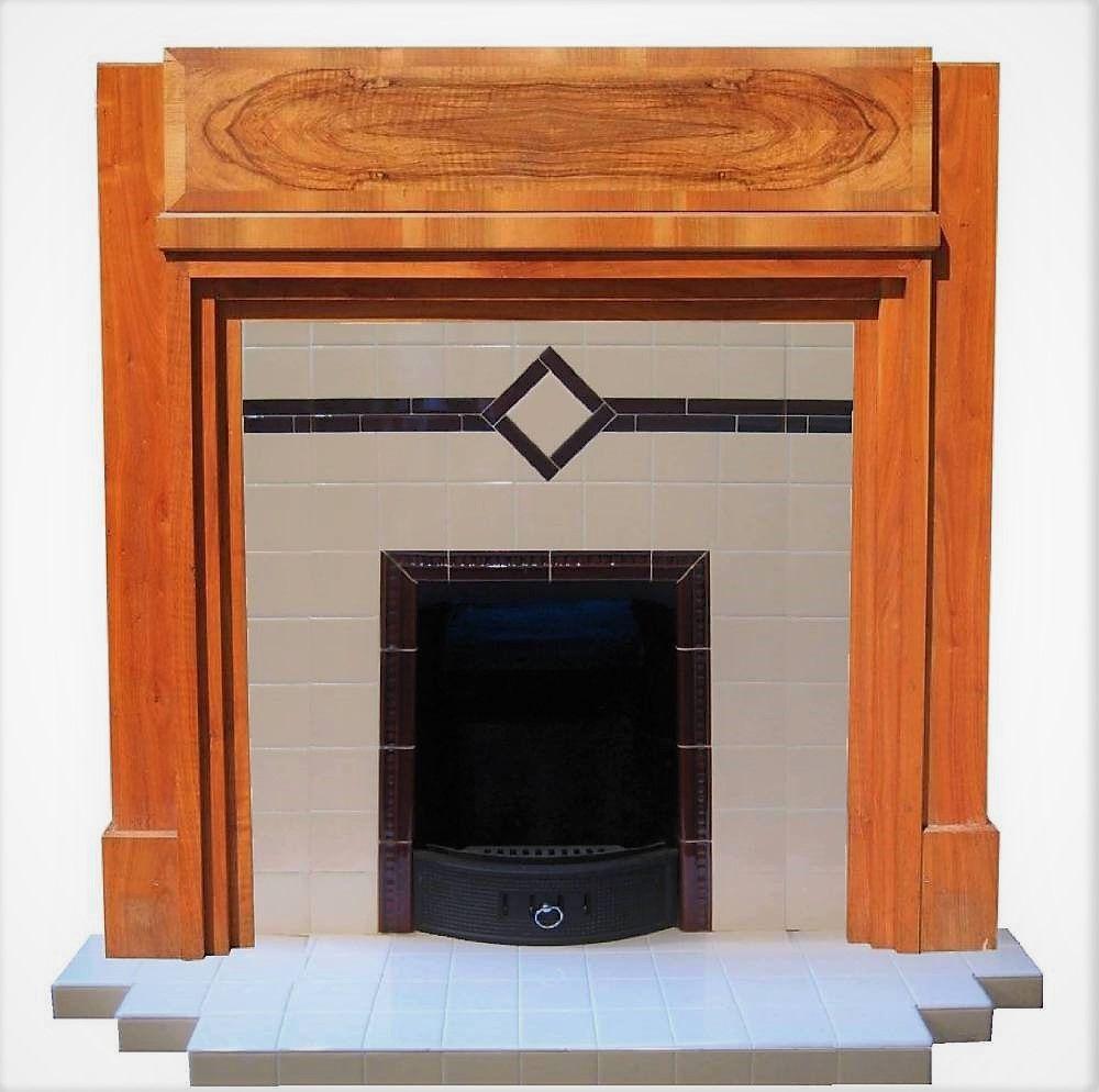Cozy Winter Homedecor: Artdeco Made To Size Tiled Fireplaces #artdeco