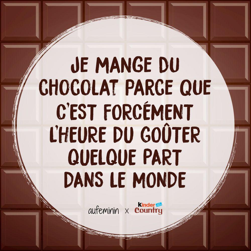 Je Mange Du Chocolat Parce Que Cest Forcément Lheure Du