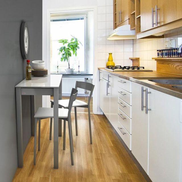 C mo decorar cocinas alargadas cocinas cocina peque a y for Como decorar departamento chico