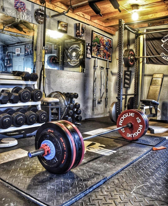 Home Gym Design Ideas Basement: Rugged Garage Gym #homegyms In 2020