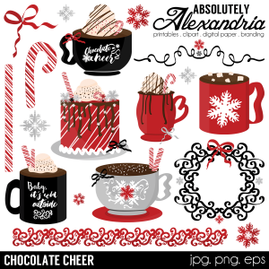 chocolate cheer digital clipart graphics clip art digital clip art art craft store pinterest