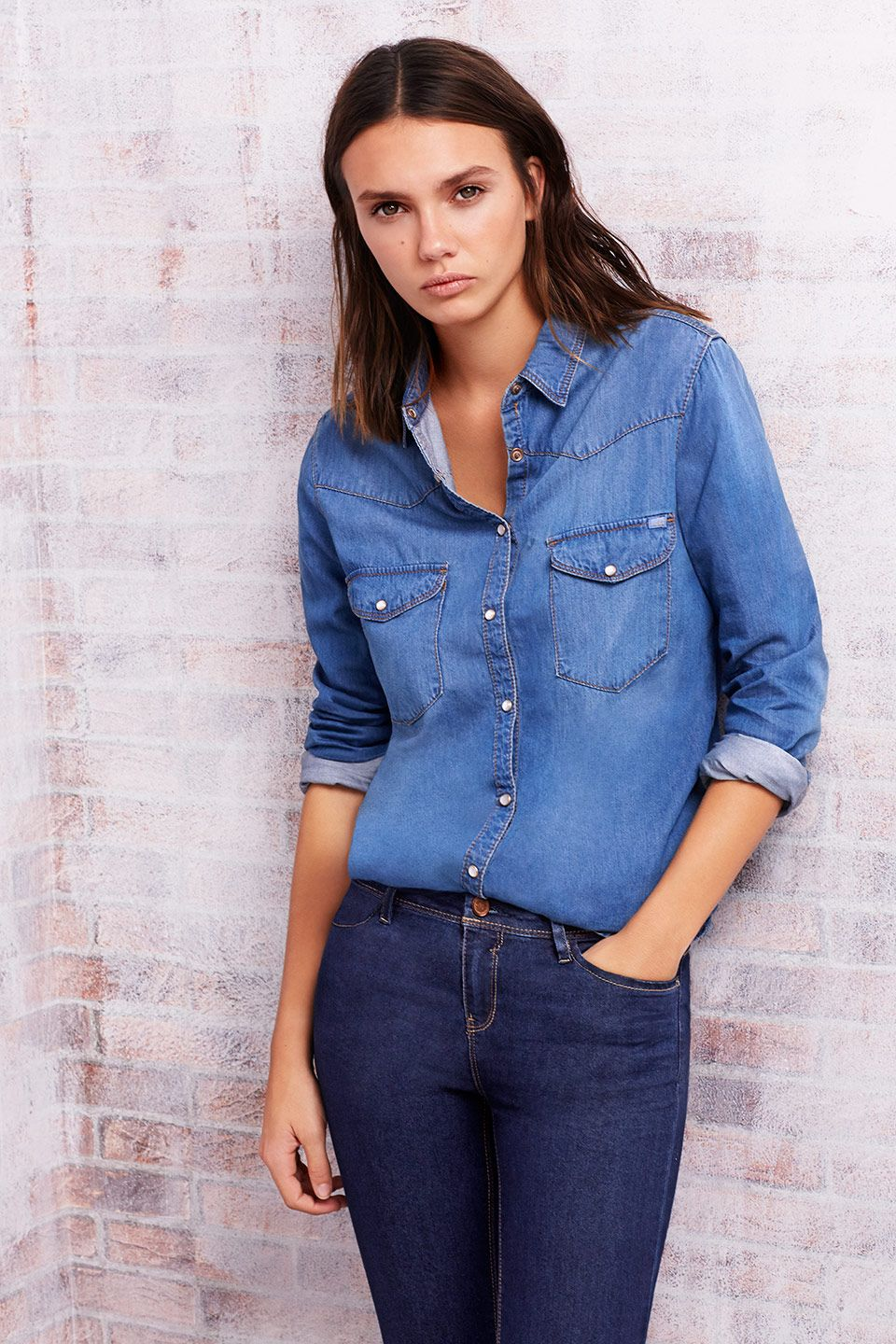Invierno Otono Moda 2014 Denim Catalogo Camisa 2015 Zara Lefties x4HqwntS7
