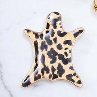 Trinket Tray - Ikat Leopard Skin