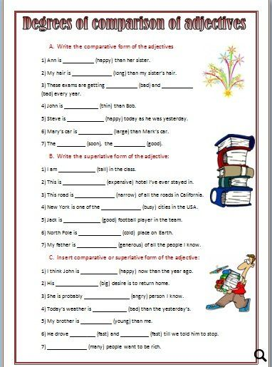 e worksheets pdf comparative and superlative and questions conversation