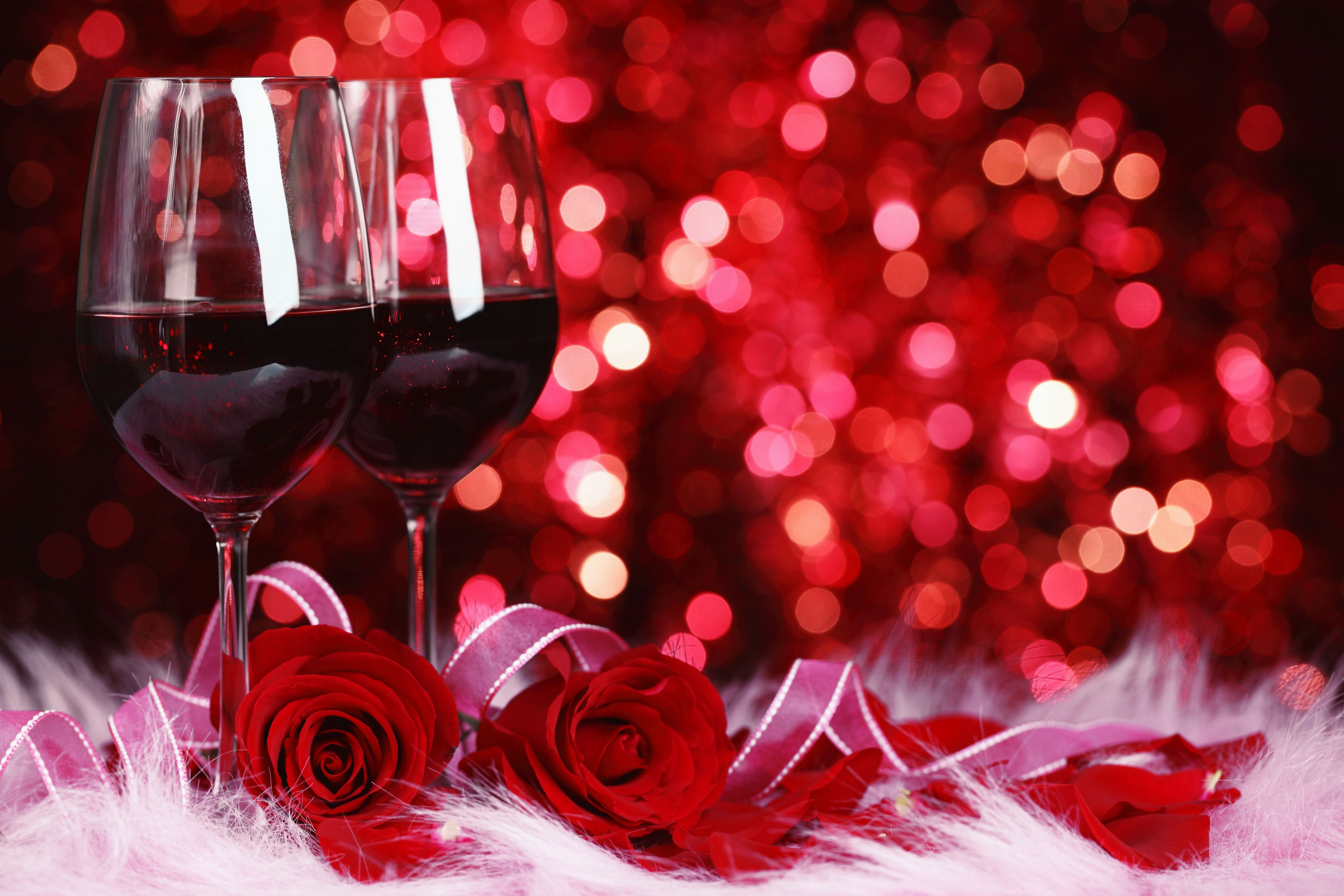Romantic Background With Roses And Glasses Of Red Wine Gallery Yopriceville High Quality Images And Wine Wallpaper Saint Valentine Valentine S Day Events