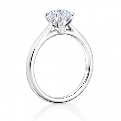 Love The Cathedral Setting So You Can See The Whole Diamond Solitaire Canadian Diamond Engagement Ring Birks 1879 Engagement Ring Wedding Ideas In 2019 Engagement Rings Diamond Engagement Rings Engagement Ring Shapes