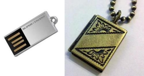 A smaller USB Locket with the same function and...