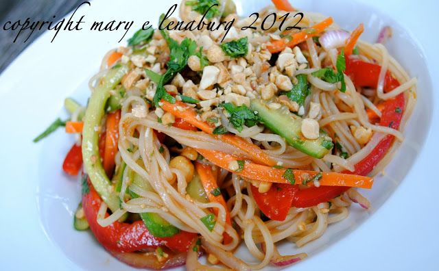 Passionate Perseverance: tasty tuesday ~ sweet and tangy rice noodle salad