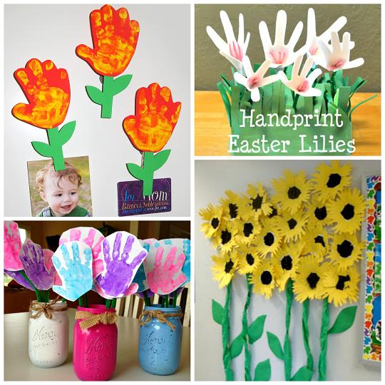 Handprint Flower Craft Ideas for Kids - Crafty Morning ...