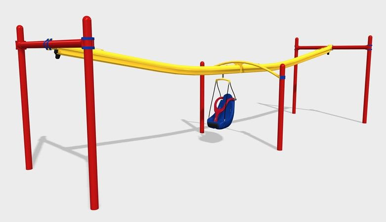Inclusive Playground Zip Line For Kids Of All Ages And Abilities Playground Activities Childrens Garden Toys Accessible House Plans