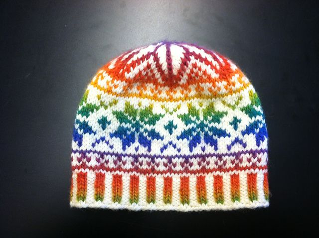 andesite's Rainbow Snowflake Hat with Mochi Plus 551 Intense ...
