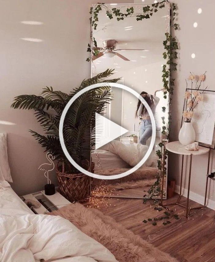 Luxus schöne DIY Lichterkette für minimalistische Schlafzimmerdekoration 30 #beautiful …