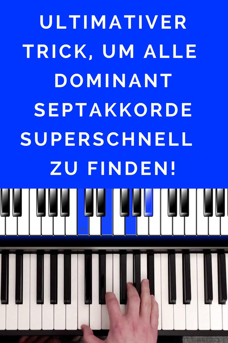 Mit diesem ultimativen Trick, kannst du in Kürze jeden beliebigen Dominantseptakkord (z.B. C7) einfach und toll klingend spielen! Ein wirklicher Profi-Trick - ich wende ihn in meinem Musikeralltag sehr häufig an.