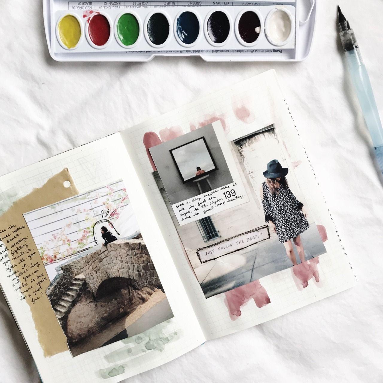 journalsanctuary tumblr art journal glue book art therapy activities