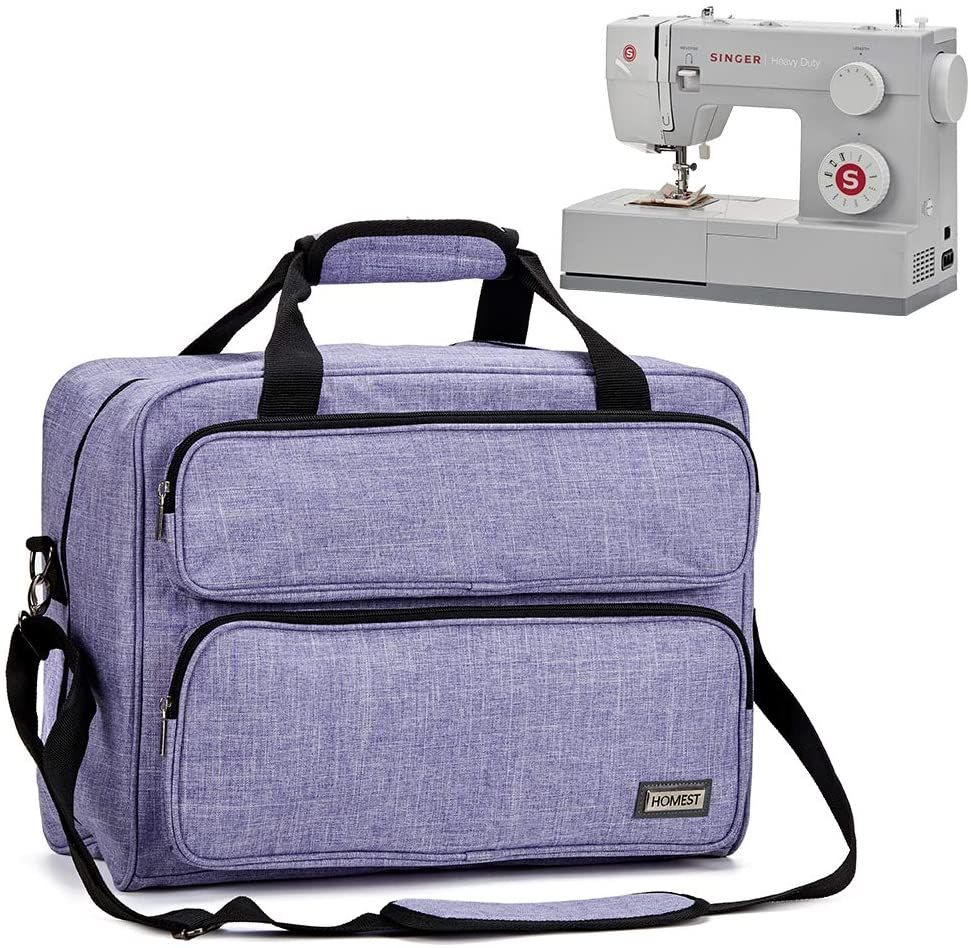 Carry Case Sewing Machine Bag with Pocket Padded Craft Storage Portable
