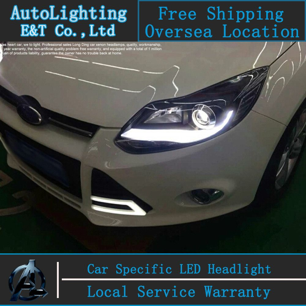 Car styling LED Head Lamp for Ford Focus 3 led headlights 2012-2014 A-