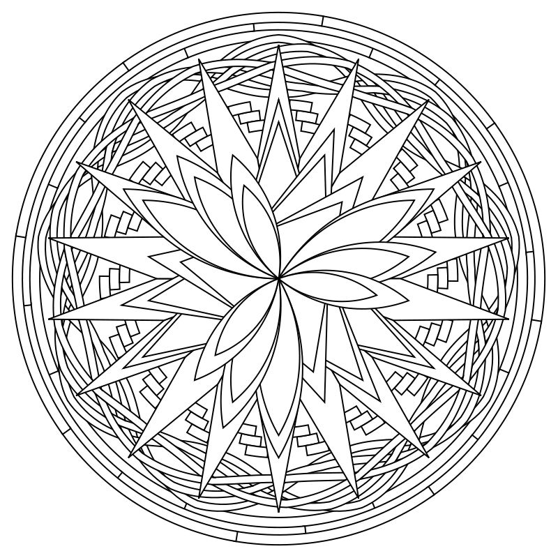 Another of my mandala designs to color