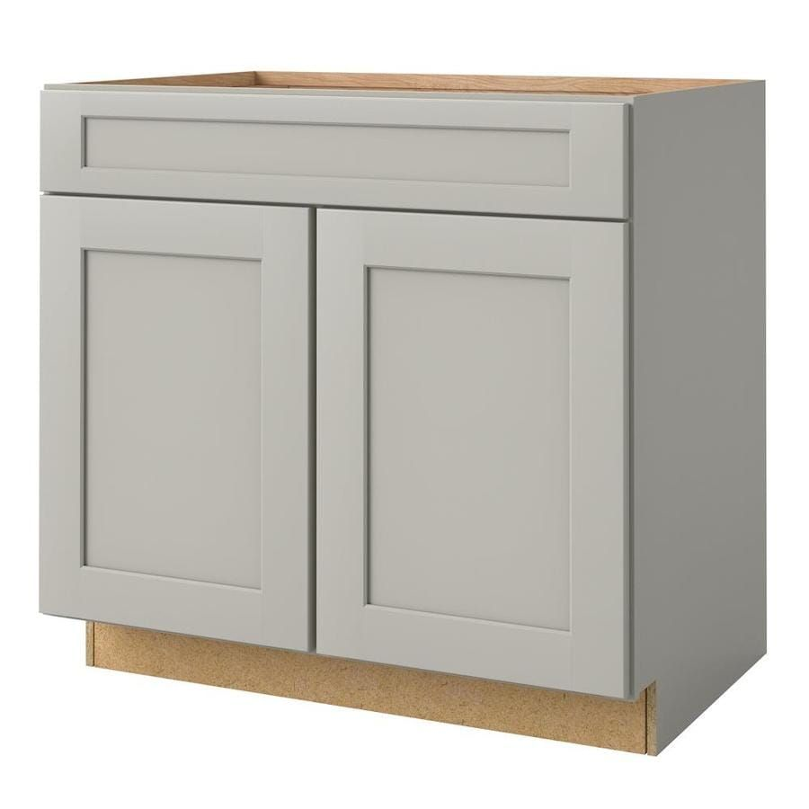 Allen Roth Stonewall 36 In W X 34 5 In H X 24 In D Stone Maple Door And Drawer Base Semi Custom Cabinet Lowes Com Semi Custom Cabinets Custom Cabinets Semi Custom Kitchen Cabinets