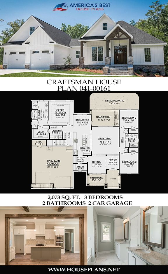 Check out plan  sq ft craftsman house with bedrooms bathrooms bonus room an open floor and car garage also rh pinterest
