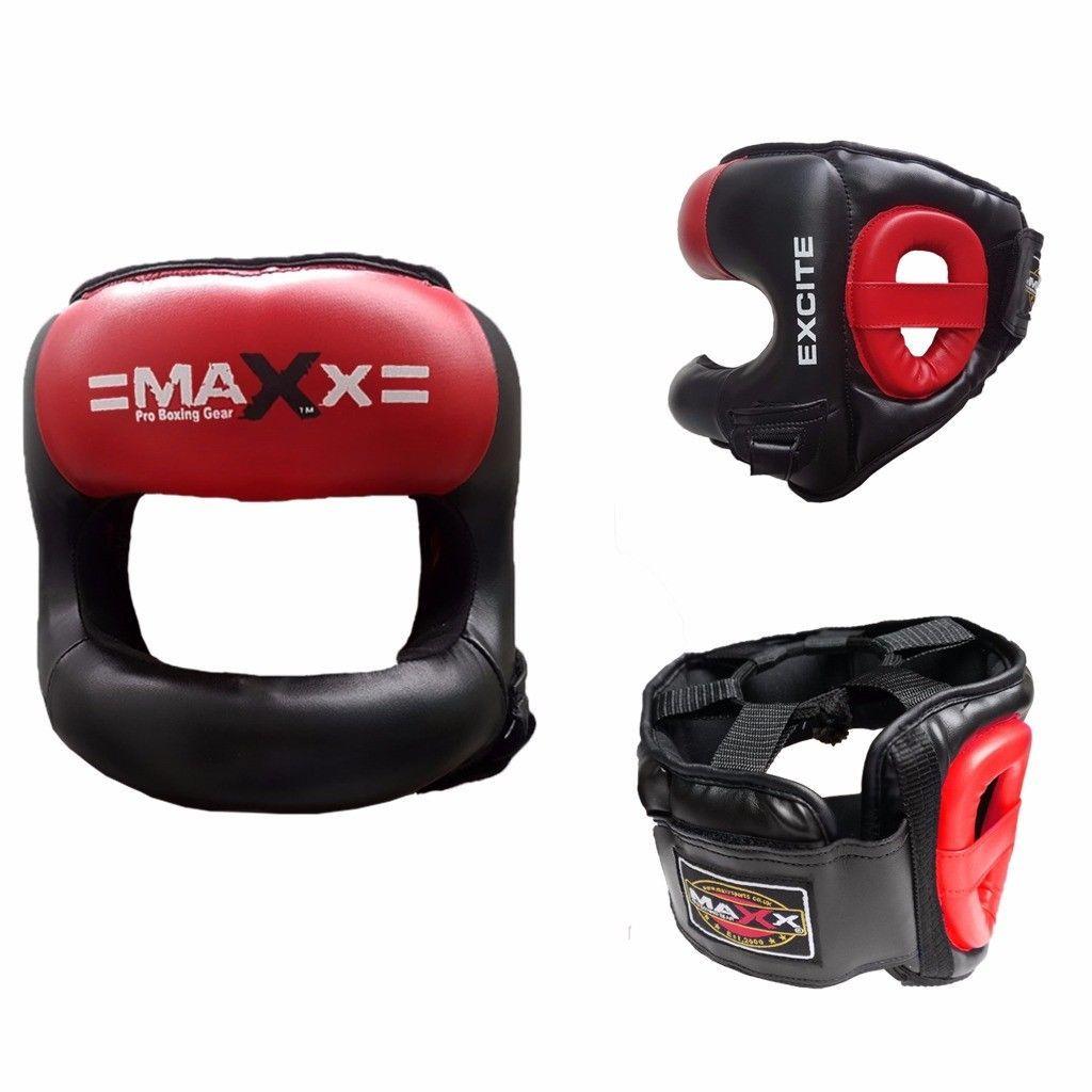 Boxing MMA Gloves With Headgear Head Guard Training Protector Gear Face Helmet