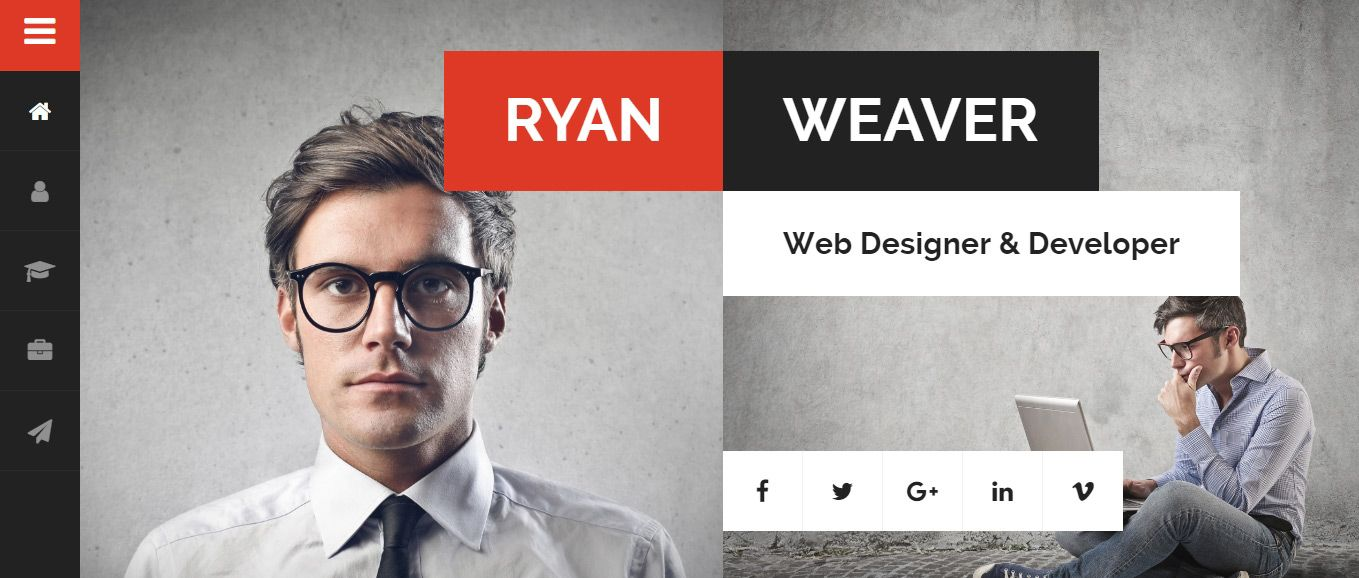 Best Resume Website Templates 40 Best Vcard WordPress Themes  WordPress Wonderfulness  Pinterest .