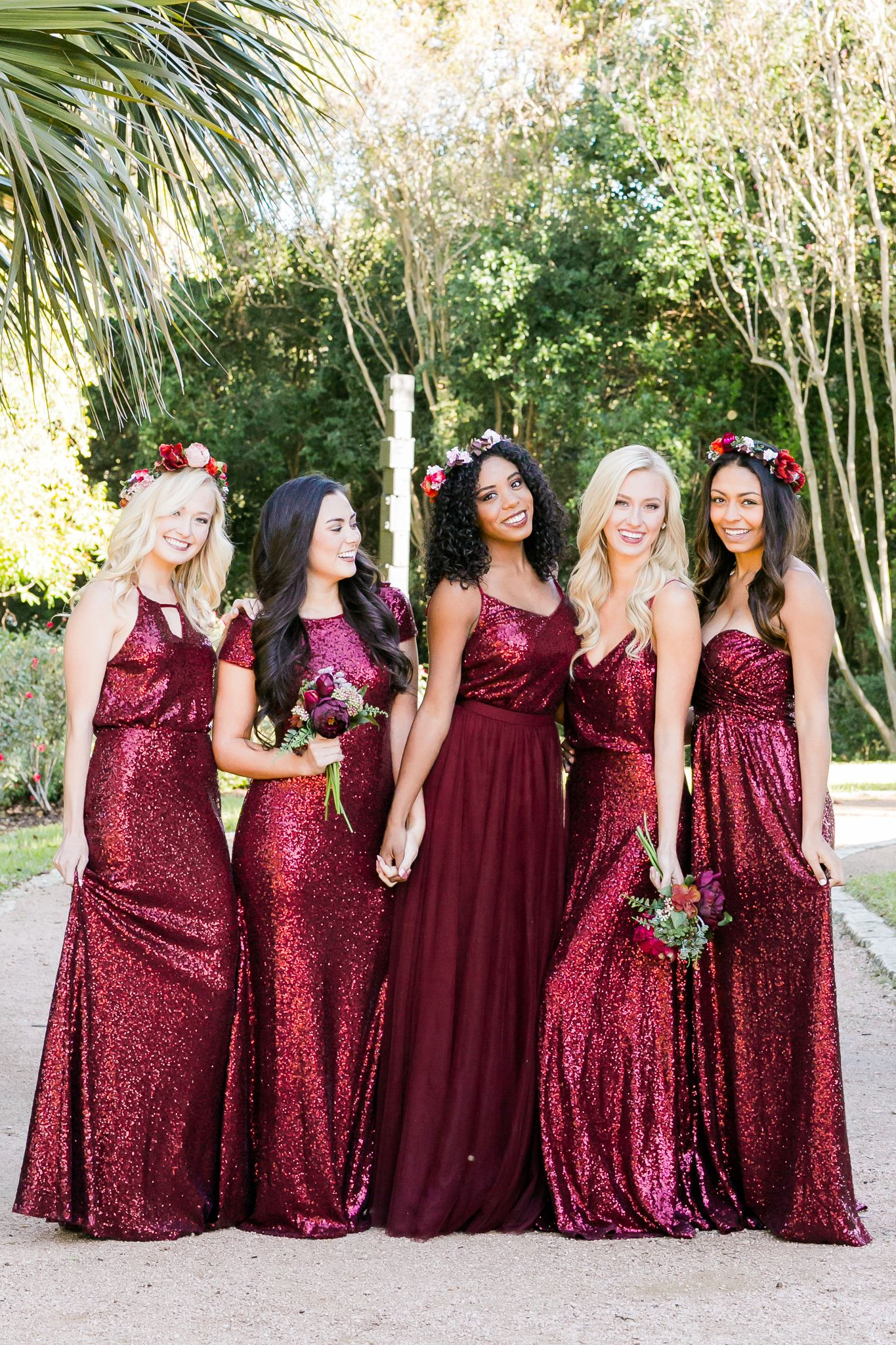 Mix And Match Revelry Bridesmaid Dresses And Separates Revelry Has A Wide Selection Of Uniqu Red Bridesmaid Dresses Unique Bridesmaid Dresses Sequin Bridesmaid