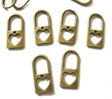 Brass Lock Charms Lot of 5 by papercreationsbydeb for $4.00