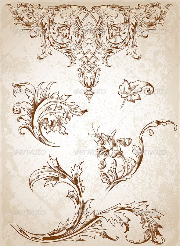 Victorian Floral Design Patterns