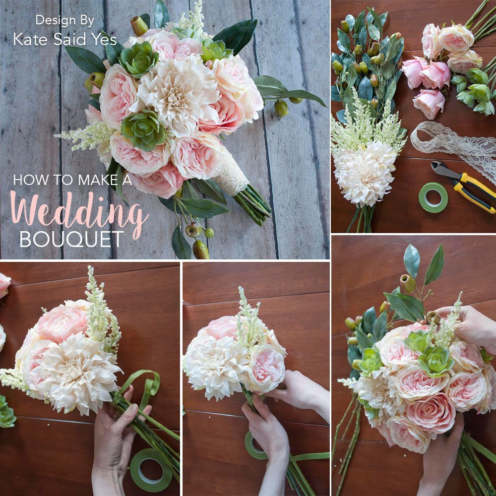 Making A Wedding Bouquet With Silk Flowers: Make Your Own Wedding Bouquets Ahead Of Time With Silk