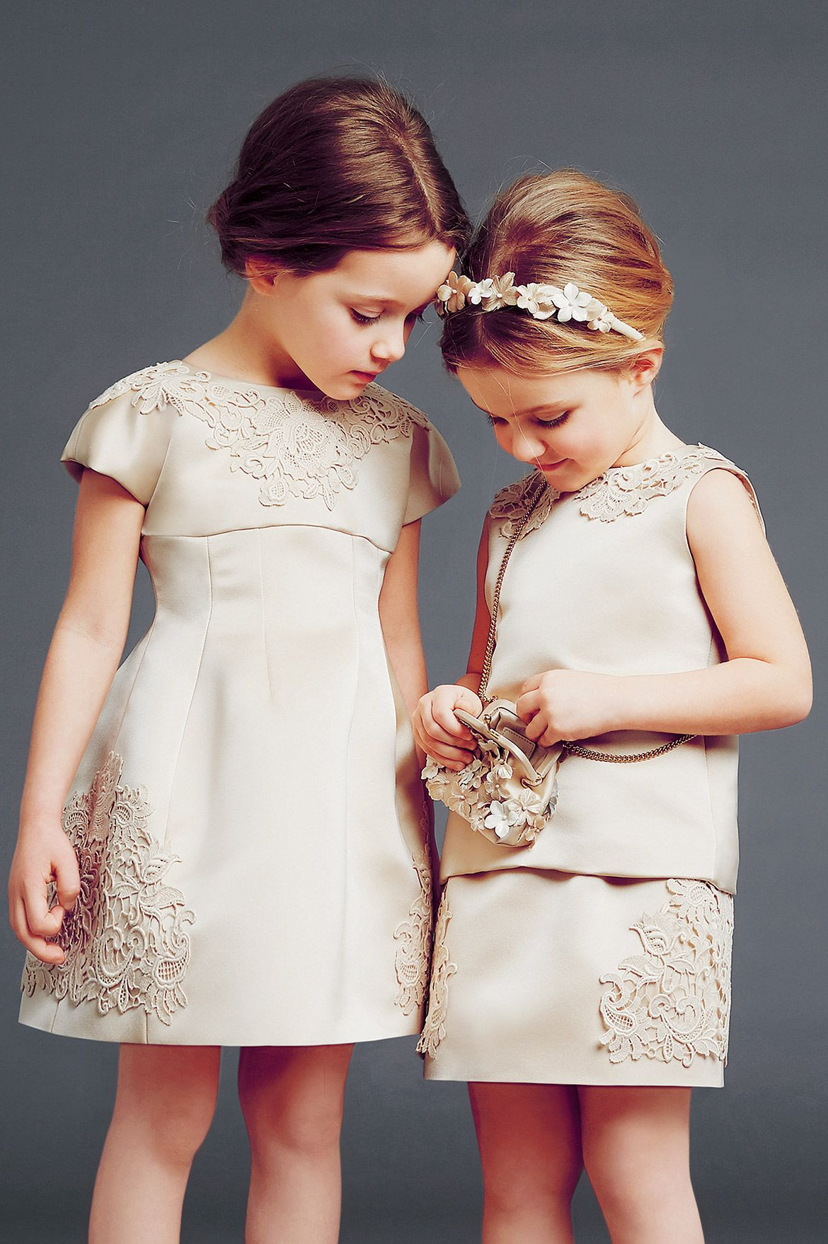 8d61ebfc4 Elegant flower girls ~ Dolce and Gabbana winter 2015 child collection