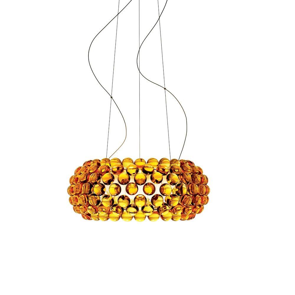 Lampe Caboche Patricia Urquiola caboche media pendel - guldgul | belysning, blåst glas, lampor