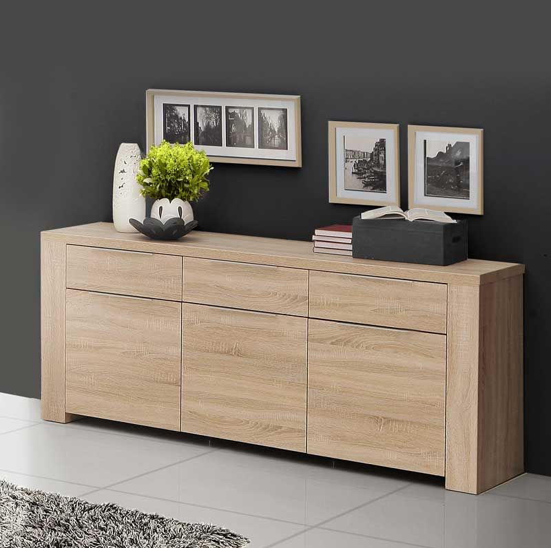 339 aparador de 188 cms color roble aparador for Mueble buffet moderno