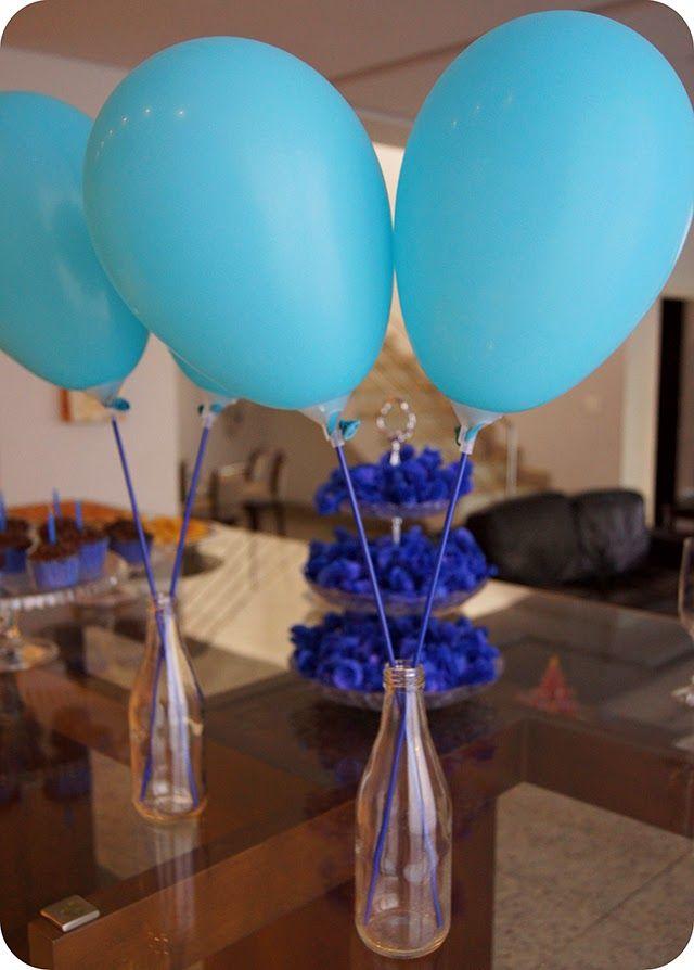 decoraç u00e3o simples de aniversário com balões Pesquisa Google festa Decoracao de aniversario  # Decoração Com Balões Para Aniversário