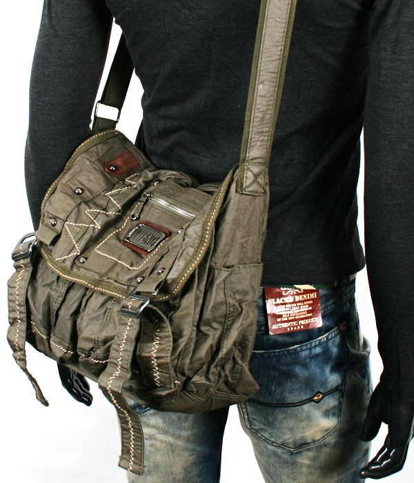 Details about NWT MENS RARE VINTAGE LOOK MILITARY MESSENGER ...