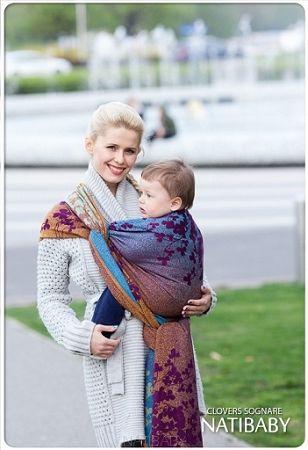Natibaby Clovers Sognare Woven Wrap 15 Bamboo Babywearing