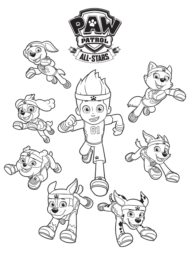 Free Paw Patrol Coloring Pages Happiness Is Homemade Paw Patrol Coloring Pages Paw Patrol Coloring Star Coloring Pages