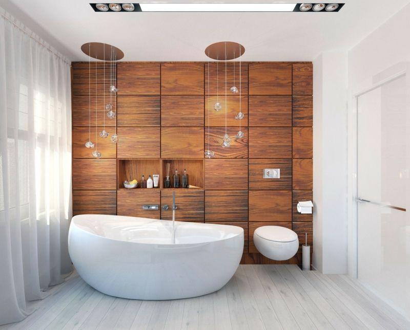 Fesselnd Eingebaut Freistehende Badewanne Luxus Badezimmer