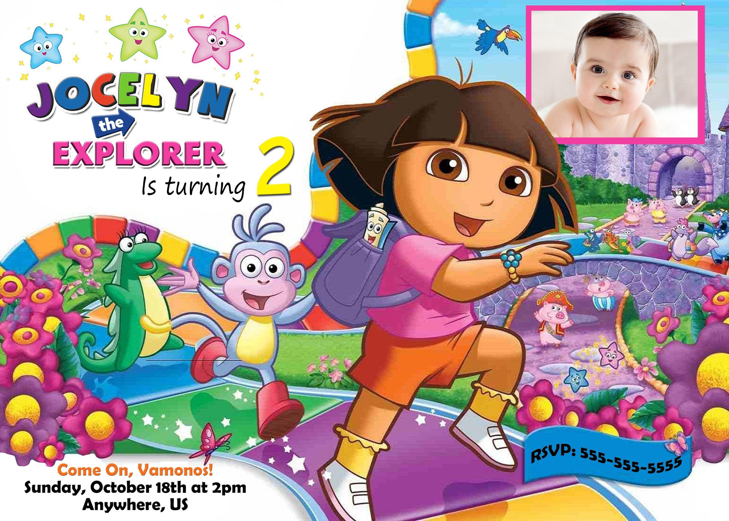 Dora the Explorer Birthday Invitations 899 available at www