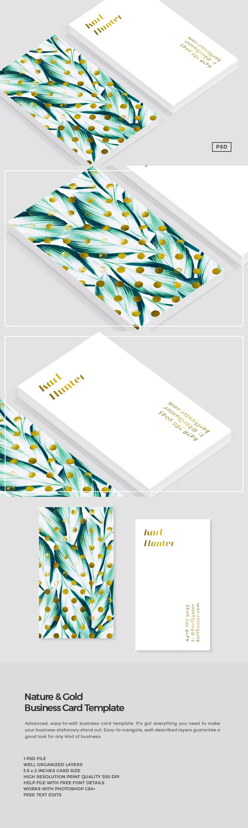 Banana Leaf Business Card Template by The Design Label on ...