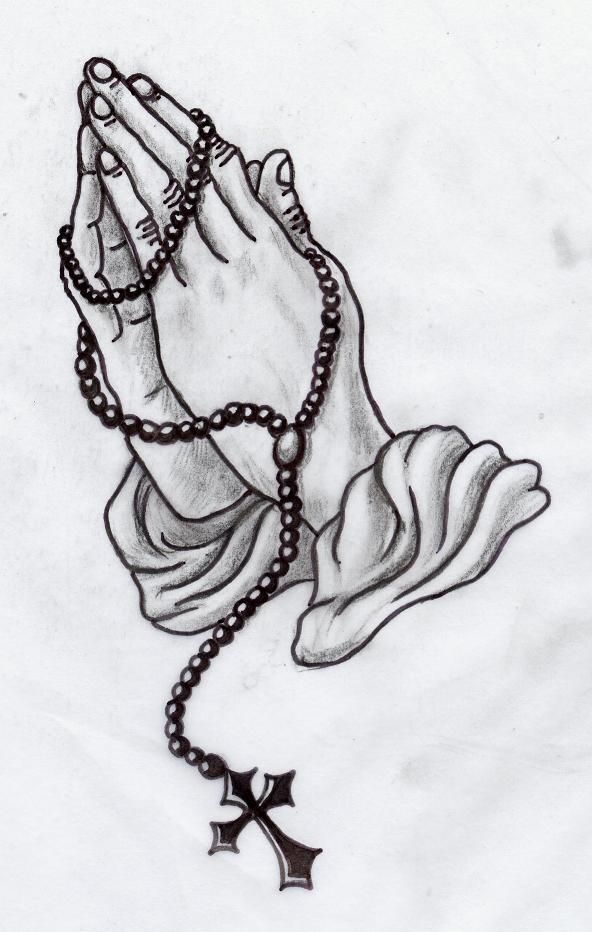 Image Result For Praying Hands With Rosary Tattoo Ideas