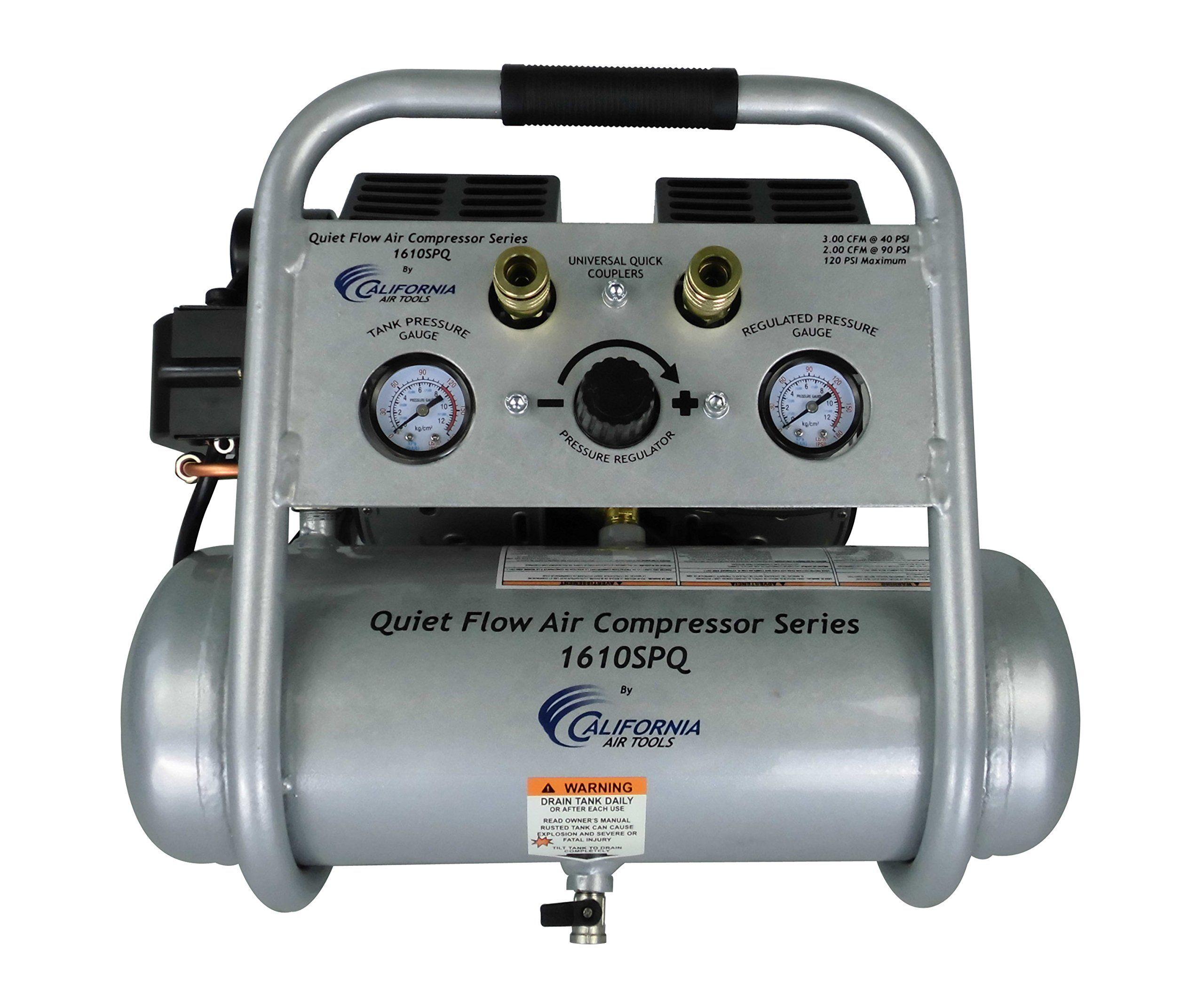 California Air Tools 1610SQ Quiet Flow 1.0 Hp 1.6 Gal