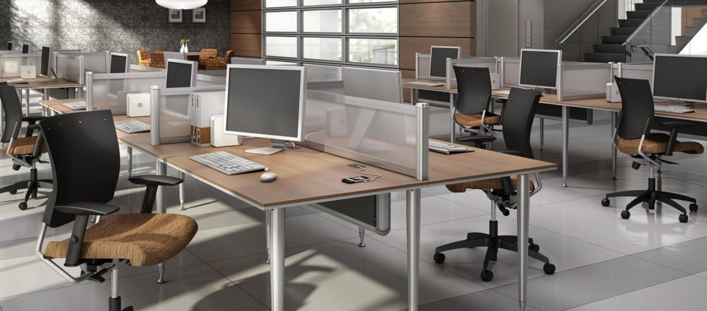 This Team Workstation Is A Great Solution For Dividing Your Office On A Budget It S Als Office Furniture Solutions Cheap Office Furniture Global Furniture